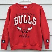 Vintage 80's Chicago Bulls Youth Medium 14-16 Starter Sweatshirt 50/50 Jordan !!