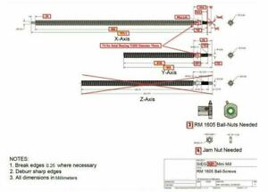 2 anti backlash ball screw RM1605  X Y for Sieg SX2L MINI MILL