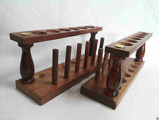 Wooden Test Tube Stand 6 Hole With Drying Rack Vintage Lab Equipment Lot Of 4