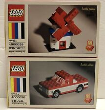LEGO Classic 60th Anniversary Limited Edition Windmill 4000029 and Truck 4000030