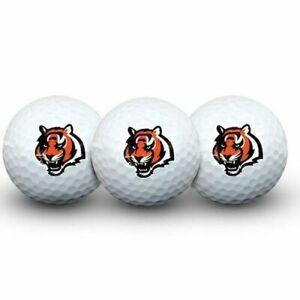 Cincinnati Bengals 3 Pack Sleeve of Golf Balls w/ Team Logo Brand New