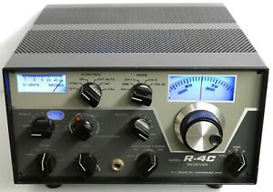 LOADED DRAKE R-4C HF RECEIVER w/ 4-NB + RCC4 + 2 CW FILTERS + SOLID STATE TUBES