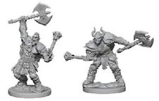 D&D Wizkids Paizo Deep Cuts Miniatures Half Orc Male Barbarian (2)