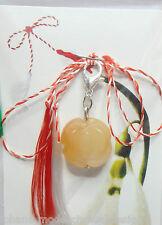 Martisor, Charm, Anhänger aus Edelsteine Karneol als Rose, handmade, Handarbeit