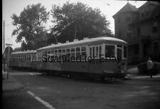 ORIGINAL PHOTO NEGATIVE-Railroad Providence Rhode Island Trolley #2026 June 1947