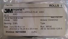 3M DIAMOND LAPPING FILM ROLL 661X 1 MIC 3 MIL 1IN X 50FT PRECISION FINISH