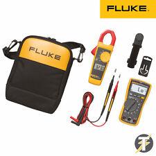 Fluke 117 Multímetro kit2t with 323 Clamp Meter and TL175 cables de prueba Más