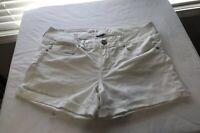 American Eagle Denim Cut Off Ripped Shorts - White Size 12 Cuffed