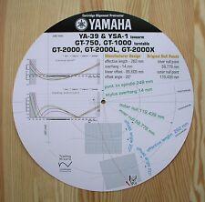 Yamaha YA-39/YSA-1 & GT-750/1000/2000 Tonearm Cartridge Alignment Protractor