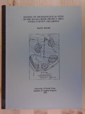 Testing of archaeological sites in the McGee Creek project area Atoka, County, O