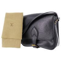 LOUIS VUITTON Cartouchiere Shoulder Bag Epi Leather Black M52242 Auth #AC86 Y
