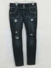Women's Almost Famous Premium Size 11 Destroyed Skinny Leg Jeans Blue