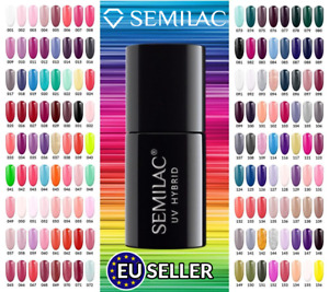 Semilac UV LED Hybrid Gel Polish Nail Polish 7 ml 300 Shades And Colors