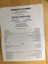 Spring Awakening roundabout reading Cast List Lea Michele Gavin Creel Roger Bart