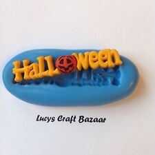 Silicone Mould Halloween Pumpkin Sign Sugarpaste Chocolate Sculpey Fondant Icing