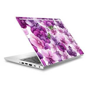 Purple Flower Skin Sticker to Cover HP Probook 430 G5 G6 Top Lid Australian Made