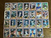 1988 TEXAS RANGERS Topps COMPLETE Baseball Card Team Set 27 Cards SIERRA HOUGH!