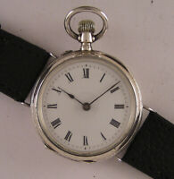 120 Years Old AllOriginal Fully Serviced Cylindre 1900 Swiss SILVER Wrist Watch