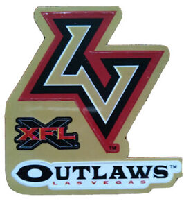 XFL Las Vegas Outlaws Football Logo Sticker 2001 Vintage Rare