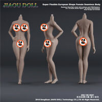 JIAOU DOLL 1/6 Big Bust Female Body 6 Skin Colors EUR Shape Dismantle Foot Toys
