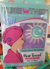 2PCK Turbie Twist Super Absorbent Hair Towel Embroidered Microfiber READ DETAILS