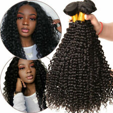 Malaysian Curly Human Hair 1/3 Bundles Soft Kinky Curly Hair Extensions us stock
