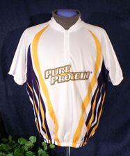 Euc White Orange Navy Blue Sublimation X Pure Protein Raglan Cycling Jersey Xl