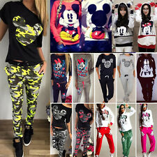 Mickey Minnie Damen Hoodie Sweatshirt Kapuzenpullover Trainingsanzug Mäntel Tops