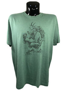 Life is Good Unisex  XL  Crusher Tee Shirt Solid Green  Hiking Goat
