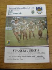 Programma di rugby 23/03/1994: Swansea V Neath. Tutina progs/bobfrankandelvis,