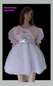adult baby satin and net princess dress sissy lolita cosplay