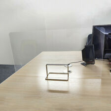UK Partition Clear Desk Divider Partition Screen (30 x 40cm) for Office School