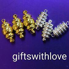 Jewellery Making Findings Fermoir Magnétique Or/Argent Plaqué (pack de 6) 12 mm