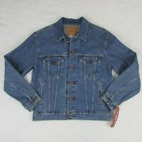 Levis Denim Relaxed Trucker Jacket Mens Medium Blue Jean Button Up 70507 0389