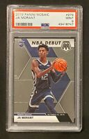 2019-20 PANINI MOSAIC JA MORANT NBA DEBUT ROOKIE RC #274 PSA 9 MINT GRIZZLIES