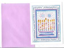 Lot of 3 Happy Hanukkah Greeting cards + Envelopes