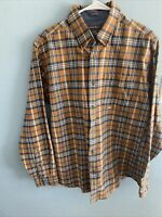 NWOT Eddie Bauer Mens Relaxed Fit L/S Flannel  Plaid  Shirt--Size-Medium