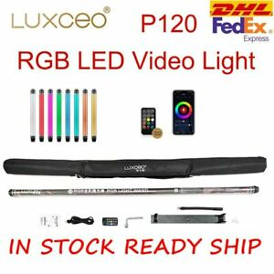 UK DHL LUXCEO P120 Waterproof RGB LED Video Light Handheld Wand 120cm W/ Remote