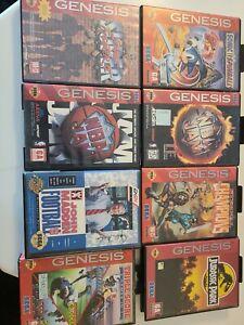 Lot Of 8 Sega Genesis Authentic Empty  Cases And Manuals No Games