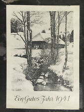 1940 Germany Buchenwald Concentration Camp New years Postcard Cover 400 Made!