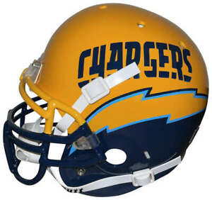 San Diego Chargers Schutt Team Issued Philip Rivers PROLINE Helmet