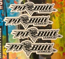 """4 PIT BULL TIRES OFF ROAD RACING STICKERS DECALS 2X6"""" FREE SHIPPING offroad utv"""