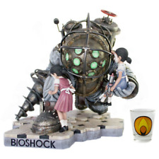 """Bioshock Big Daddy LIMITED Statue - Bouncer + Little Sister NUM #/400 Resin 14"""""""