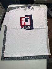 Fila White 2Xl short sleeve T Shirt Fila Rexton Tee Lm181v12