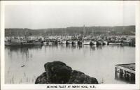 North Head NB New Brunswick Fishing Seining Fleet Real Photo Postcard