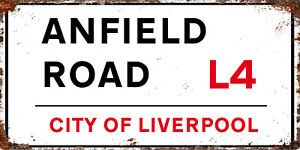 METAL Liverpool FC LFC Anfield inspired Road RD RETRO GARAGE BAR Man CAVE SIGN