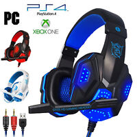 Wired Stereo Bass Surround Gaming Headset For PS4 New Xbox One PC with Mic/Cable