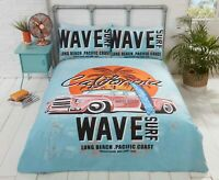 "Rapport ""California"" Surf Retro Vintage Car Reversible Duvet Cover Bedding Set"