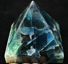 2660g AAA NATURAL PRETTY BLUE Bright-coloured FLUORITE CRYSTAL Pyramid HEALING
