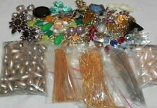 Vintage Earring & Jewelry Making Kit LOT Pearl Beads Wires Findings Pieces